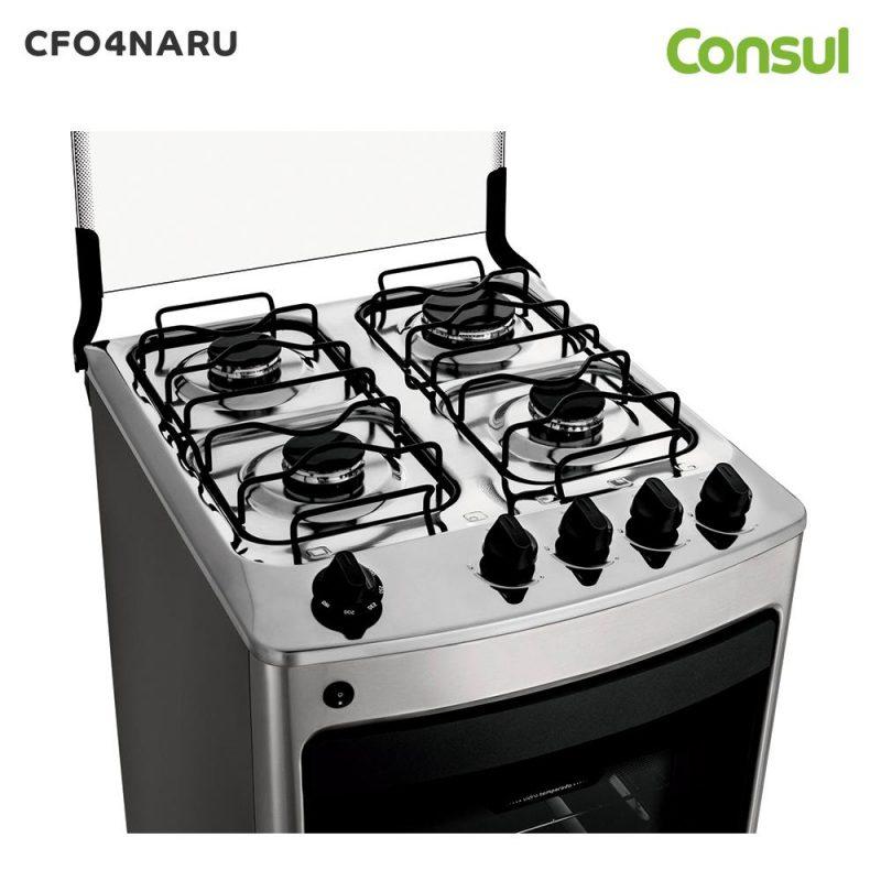 Cocina a Gas Consul CFO4NAR 4 Hornallas Acero Inoxidable Horno Doble Vidrio - Acero Inox 3