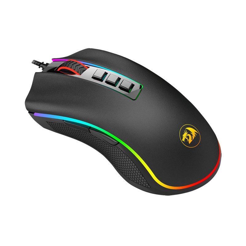 Mouse Gamer Redragon Cobra M711W Chroma RGB Botones Programables - Negro 4