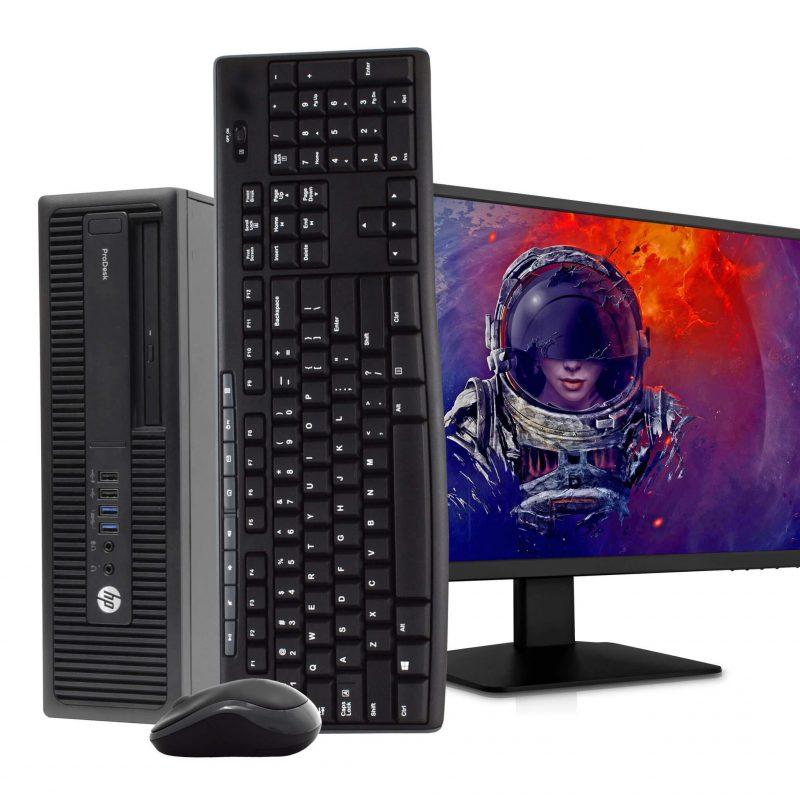 PC Gamer HP Pro Core i7-6700 16GB DDR4 512GB SSD + Tarjeta de Video GeForce GT710 2GB + Monitor LCD 22'' 1