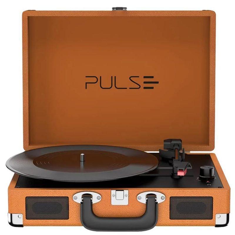 Victrola Tocadiscos Retro Pulse SP364 Con Parlantes Entrada Aux Bluetooth Diseño Retro con Valija 1