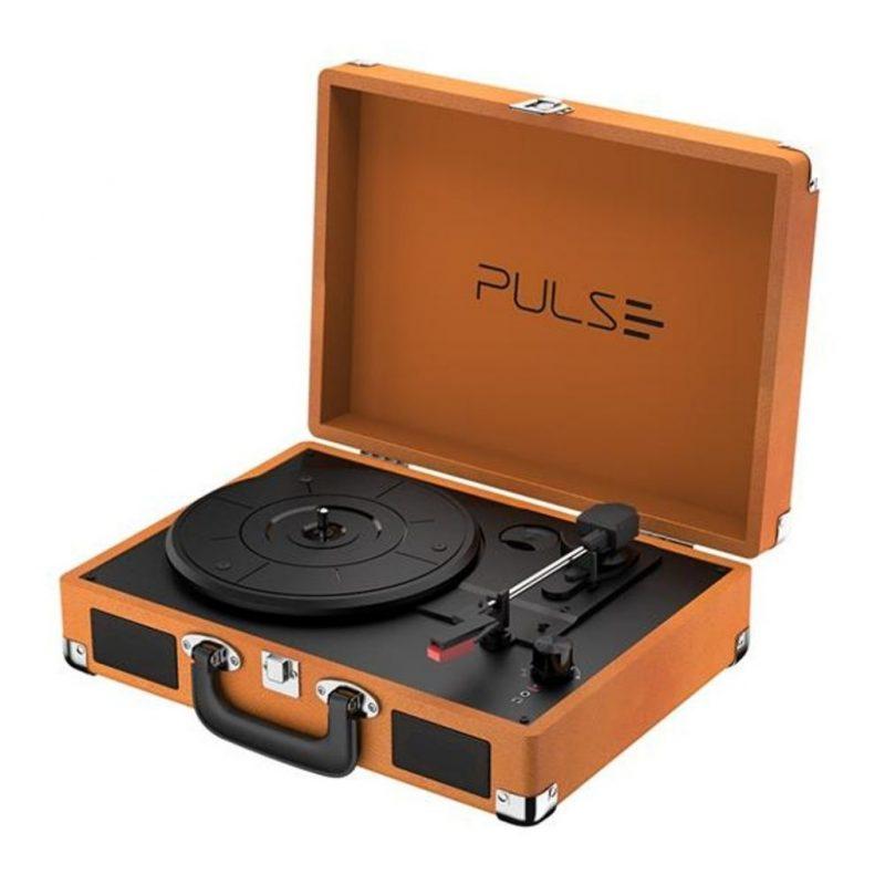 Victrola Tocadiscos Retro Pulse SP364 Con Parlantes Entrada Aux Bluetooth Diseño Retro con Valija 2