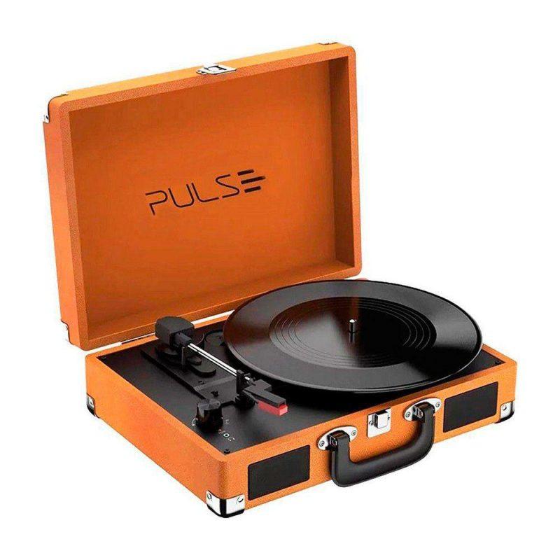 Victrola Tocadiscos Retro Pulse SP364 Con Parlantes Entrada Aux Bluetooth Diseño Retro con Valija 3