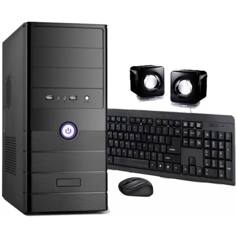 Pc Computadora Completa Nueva INTEL Dual Core N3060 8GB 500GB + Perifericos + Monitor Nuevo FHD LED HP 22'' + WiFi 3