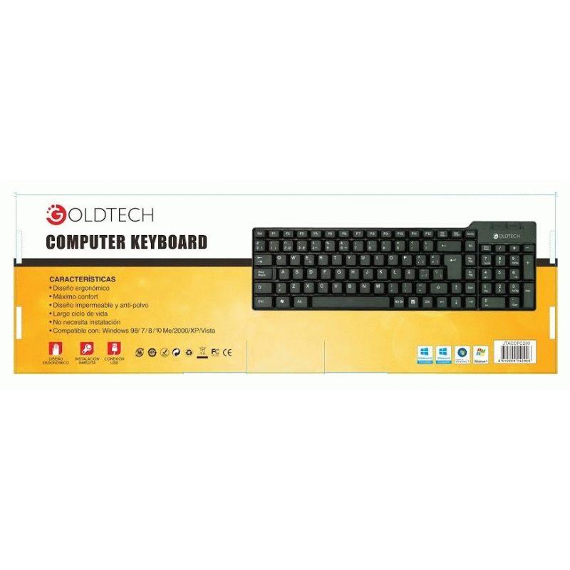 Teclado Goldtech APC200 USB Español Negro 3