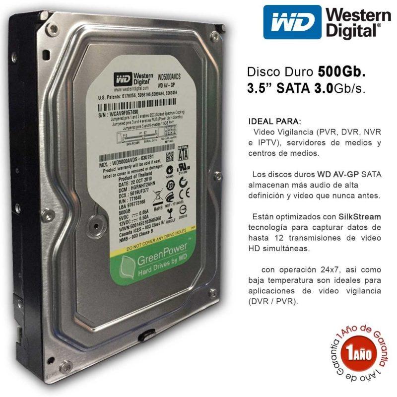 Disco Duro 3.5' Western Digital 500 GB Sata 2