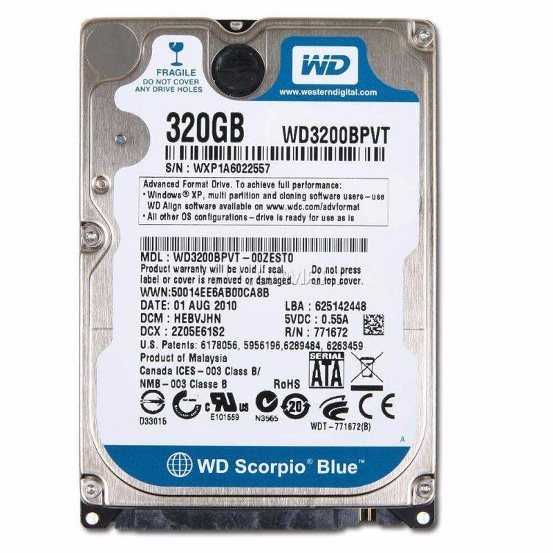 Disco Duro Sata 320 GB 2.5'' Para Notebook / Netbook Refabricados Varias Marcas 1