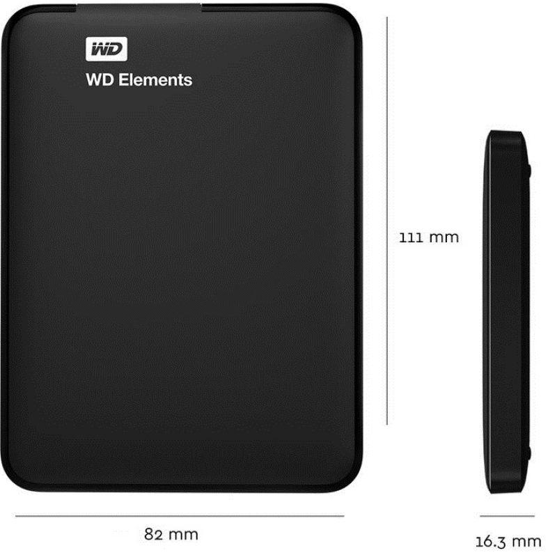 Disco Duro Externo Western Digital Elements 2.5' 1TB USB 3.0 3