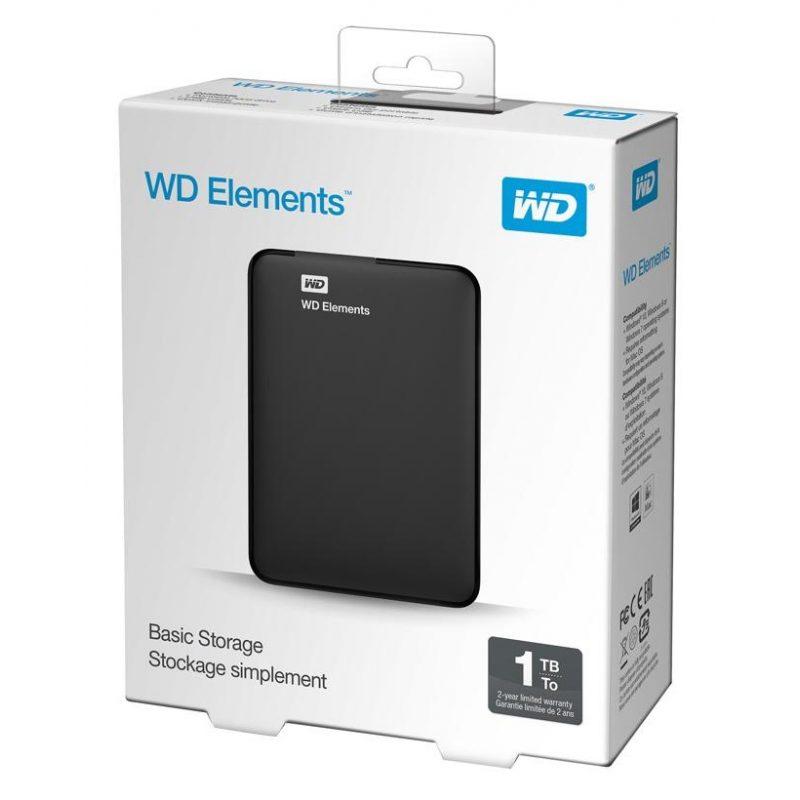 Disco Duro Externo Western Digital Elements 2.5' 1TB USB 3.0 4