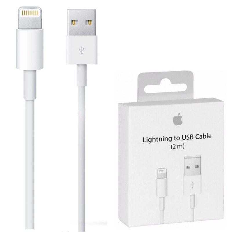 Cable Datos Original Apple iPhone 5 5s 6 6s 7 Plus - 2 Metros 3