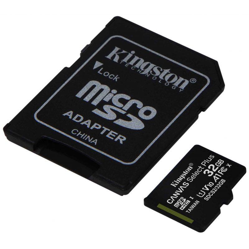 Memoria Micro SD Kingston 32GB Clase 10 Con Adaptador 2