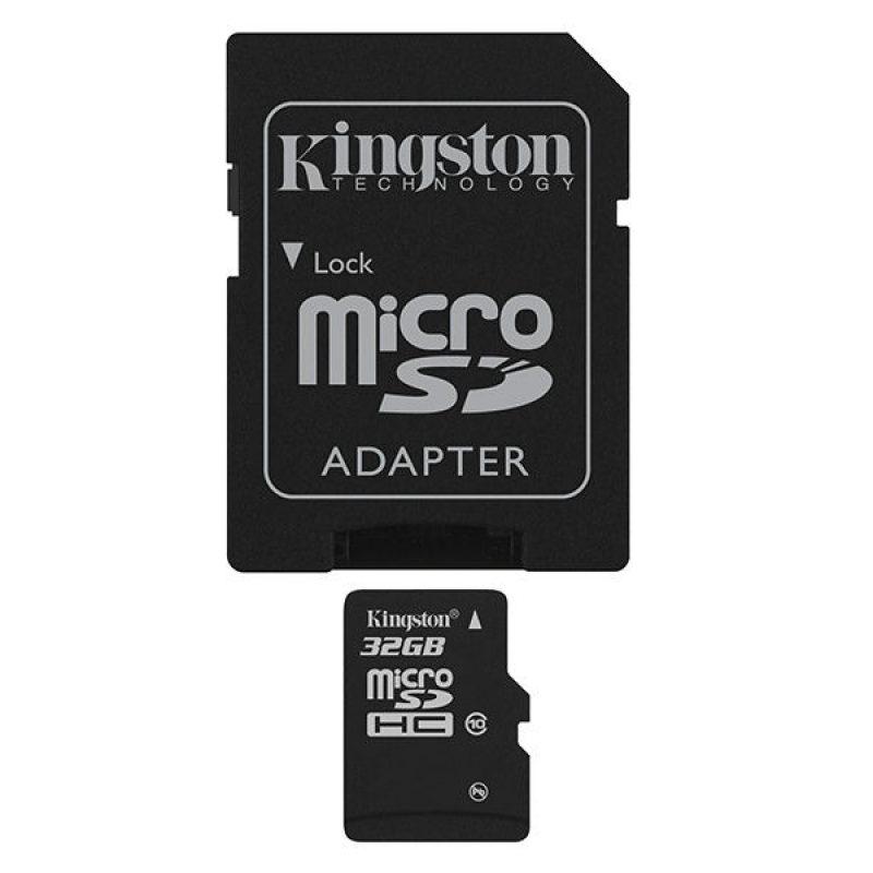 Memoria Micro SD Kingston 32GB Clase 10 Con Adaptador 3