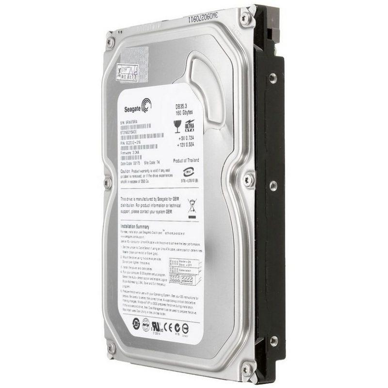 Disco Duro Sata 160 GB 3.5'' Para Pc Dvr Refabricado Varias Marcas 1