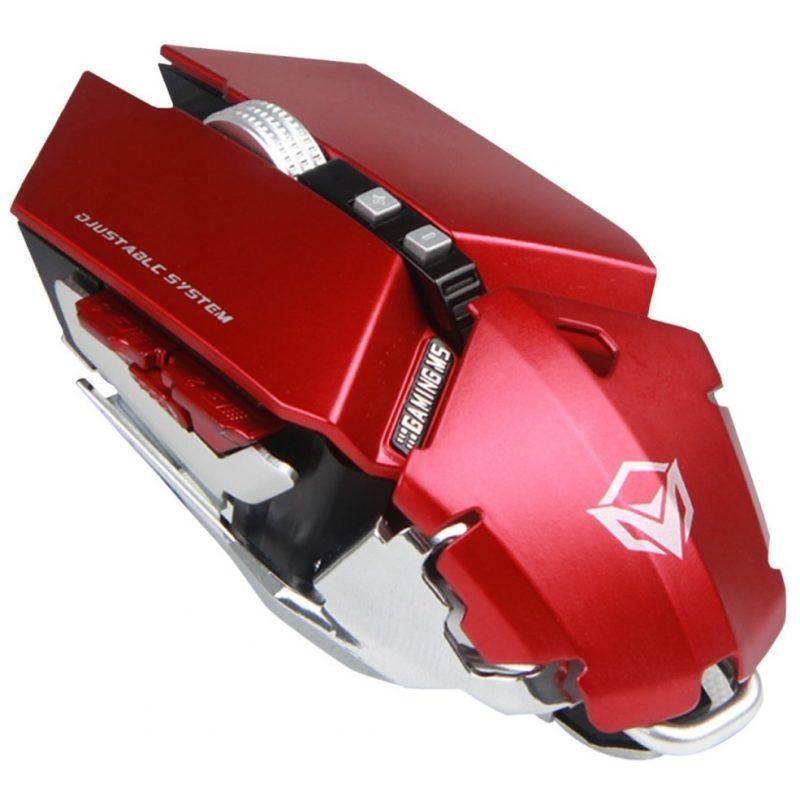 Mouse USB Gamer Meetion MT-M985 Red Ajustable Base de Aluminio 1