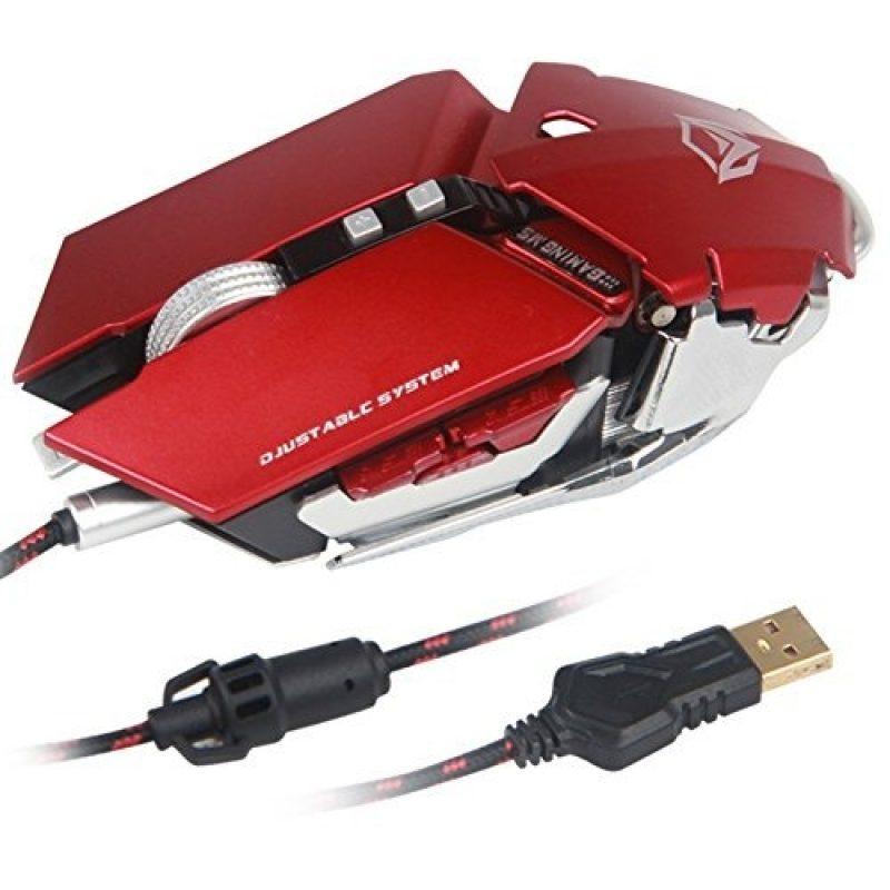 Mouse USB Gamer Meetion MT-M985 Red Ajustable Base de Aluminio 3