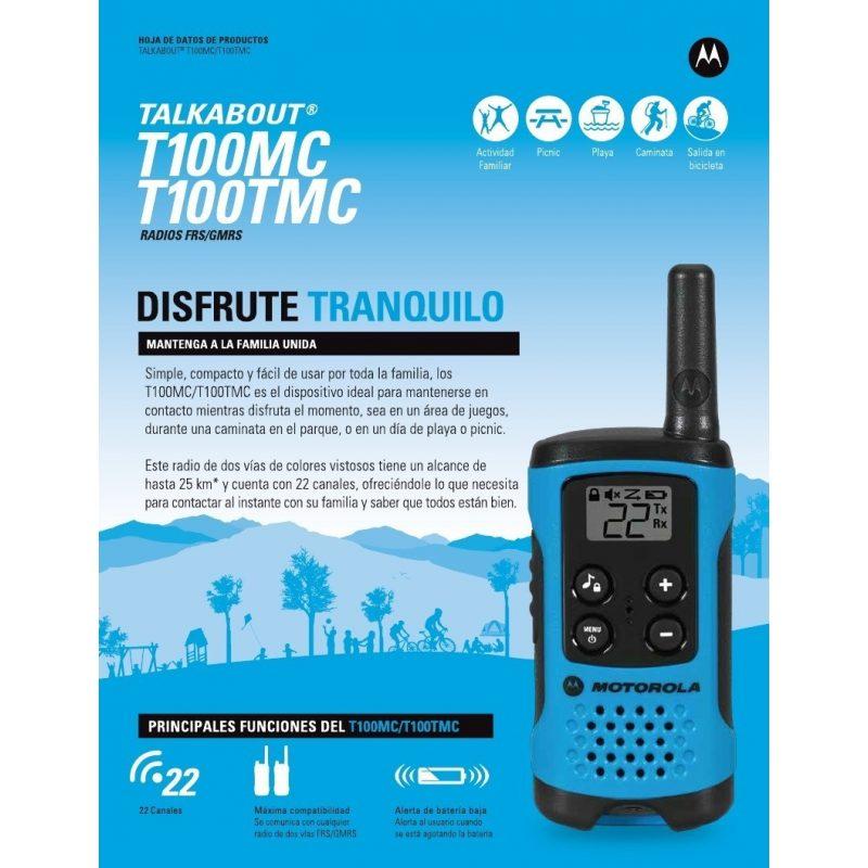 Handy Walkie Talkie Motorola TalkAbout T100 2 Vías 25 Km 3