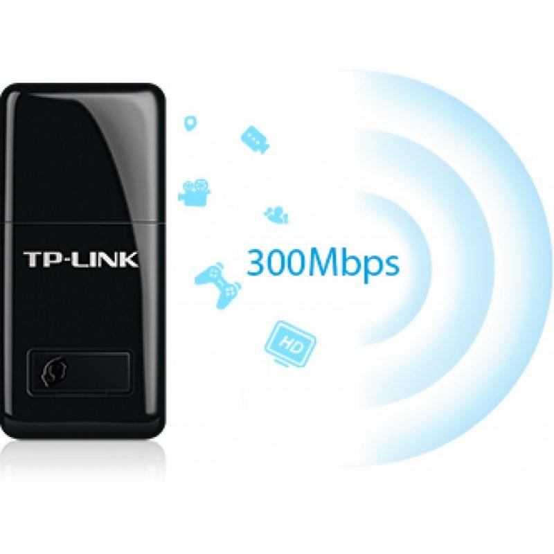 Adaptador de Red USB WiFi Inalambrico TP-Link TL-WN823N 300mbps Nano 2