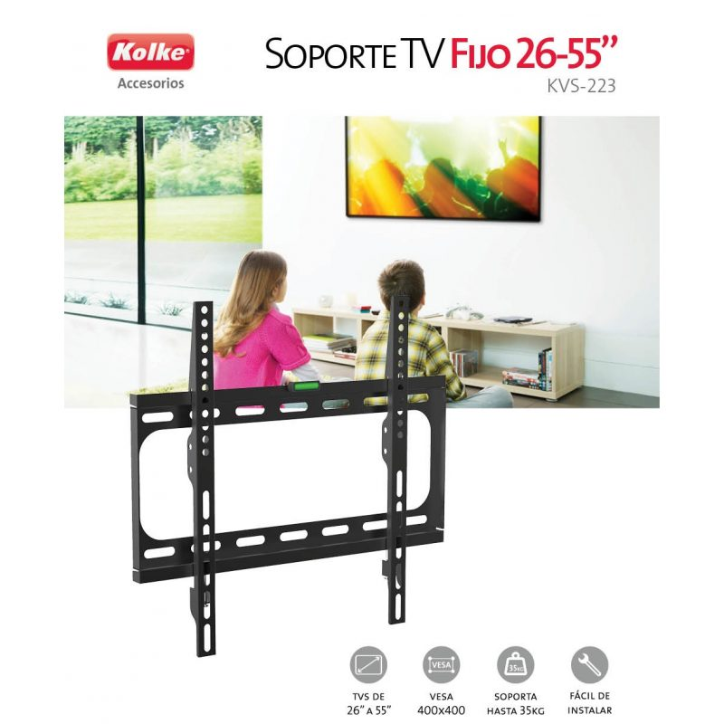 Soporte Kolke KVS-223 para TV Monitor LED LCD 26'' a 55'' Fijo Universal Vesa 3
