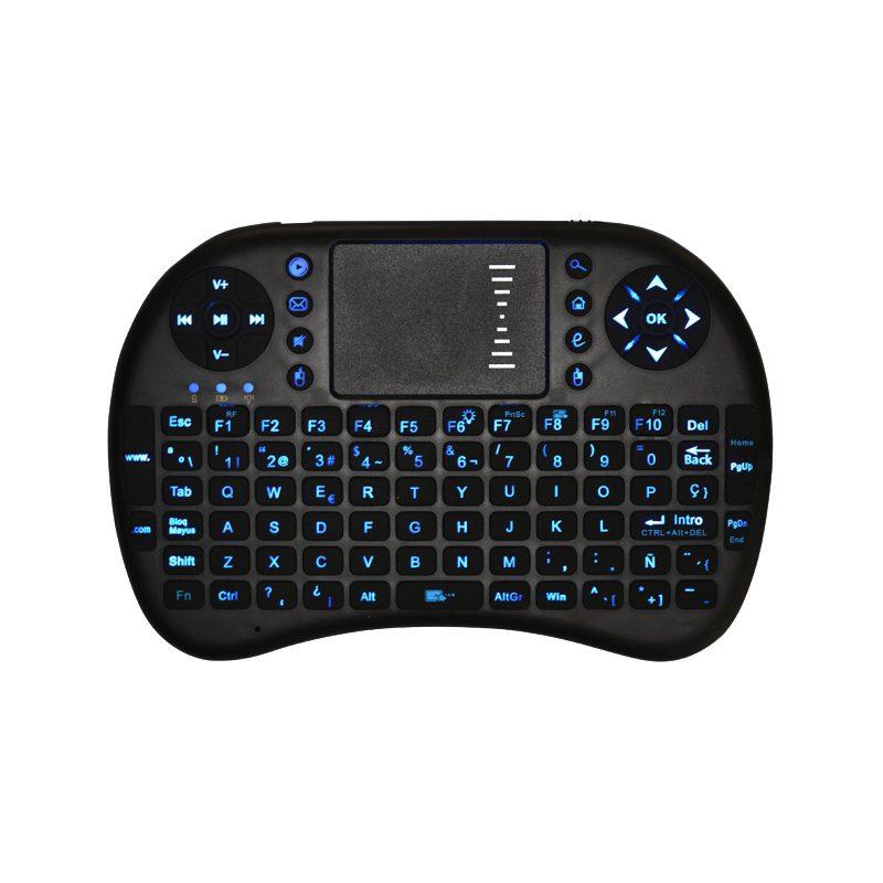Mini Teclado Inalambrico Ergonomico con Touch Mouse y Teclas Retroiluminadas 1
