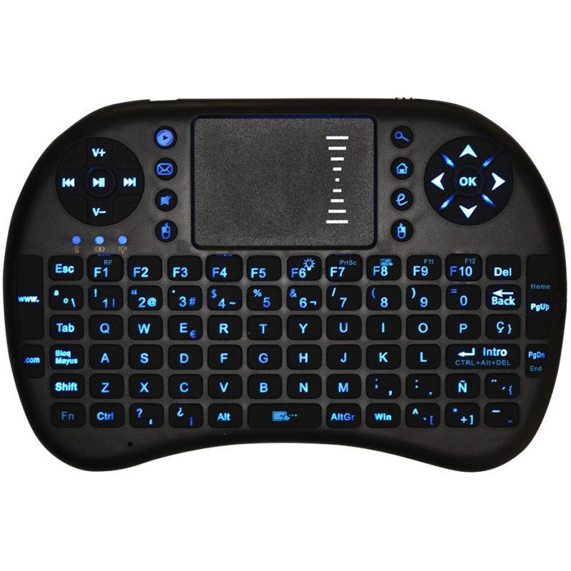 Mini Teclado Inalambrico Ergonomico con Touch Mouse y Teclas Retroiluminadas 2