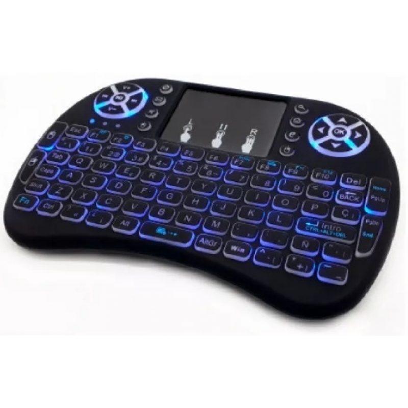 Mini Teclado Inalambrico Ergonomico con Touch Mouse y Teclas Retroiluminadas 3