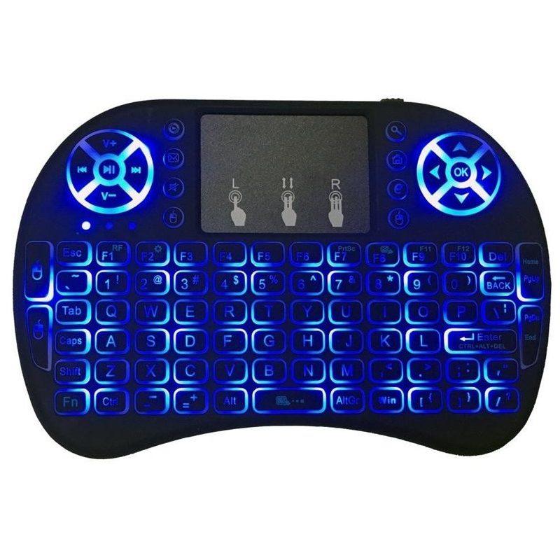 Mini Teclado Inalambrico Ergonomico con Touch Mouse y Teclas Retroiluminadas 4