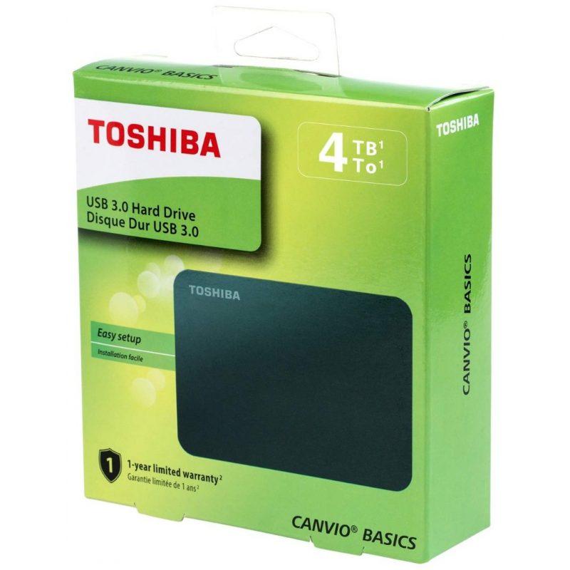 Disco Duro Externo Toshiba Canvio Basics 4TB USB 3.0 Windows y Mac OS 4
