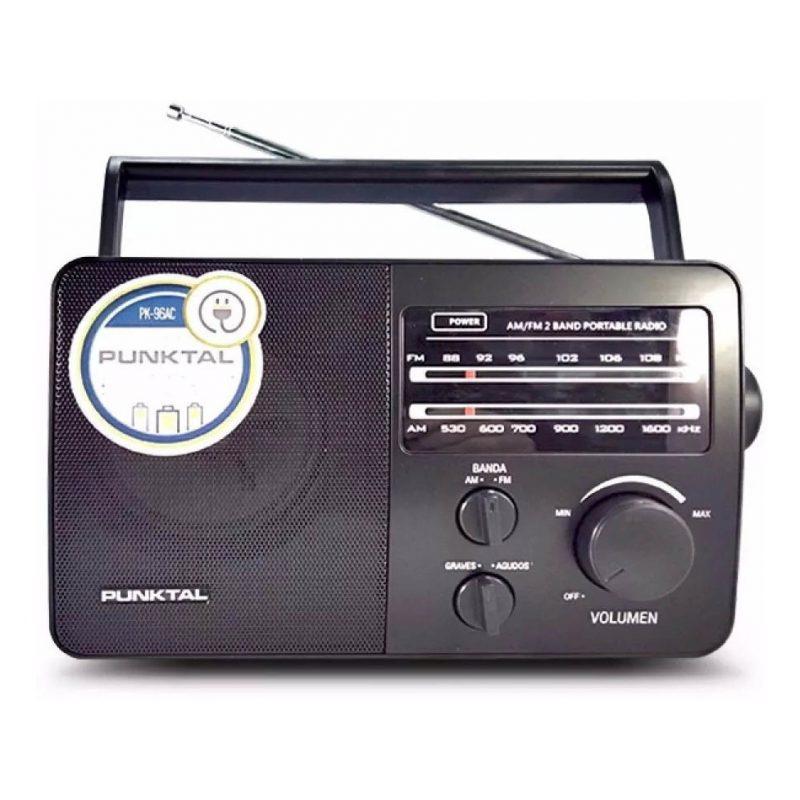 Radio Portatil Punktal PK-96AC AM/FM Pilas y Corriente 2