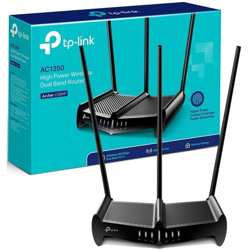 Router TP-Link Wireless ARCHER C58HP Alta Potencia Dual Band 1