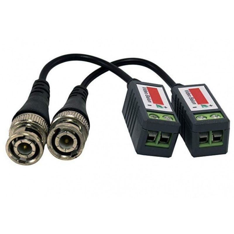 Balun pasivo BNC a UTP (2 unidades) Adaptador Video Coaxil a UTP 1