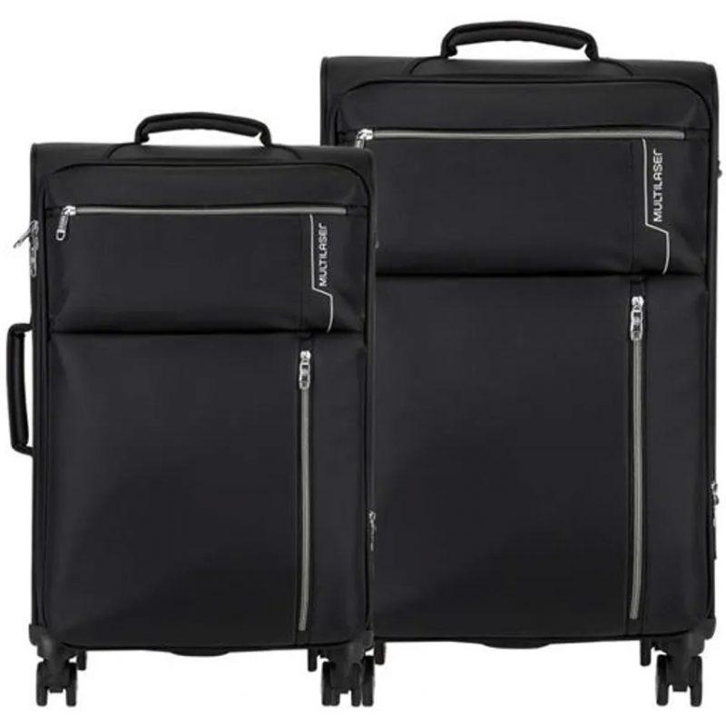 Maletas Valijas para Viaje Multilaser BO421 Kits 2 Unidades Grande / Mediana Calidad Premium 4 Ruedas 4