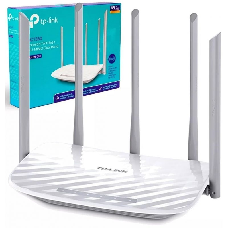 Router TP-Link Wireless ARCHER C60 Doble Banda WiFi 5 Antenas 1