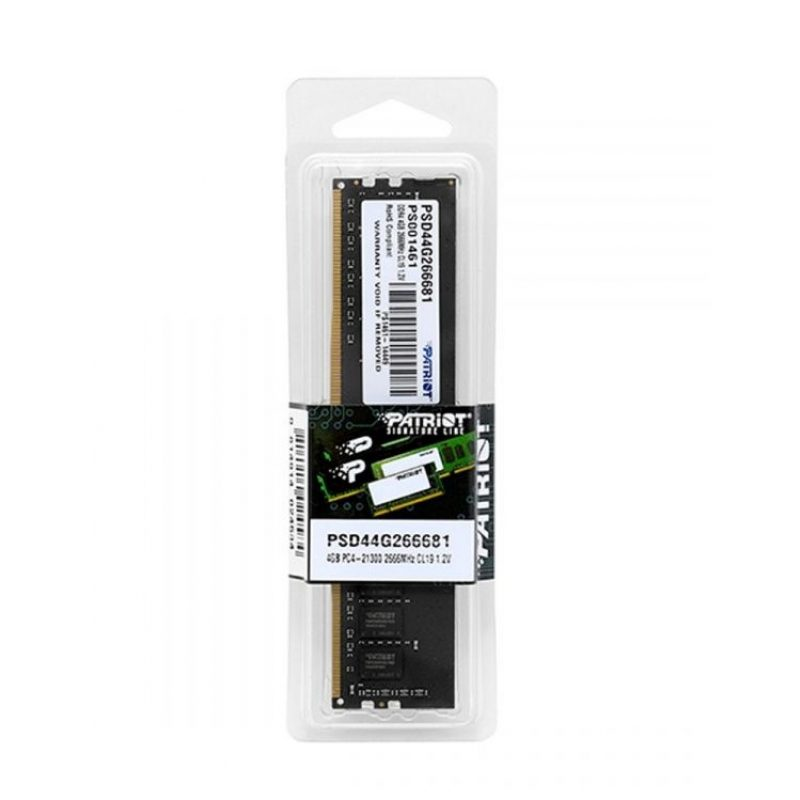 Memoria RAM DDR4 4GB 2666 MHz Patriot Signature PSD44G266681 Nueva 4