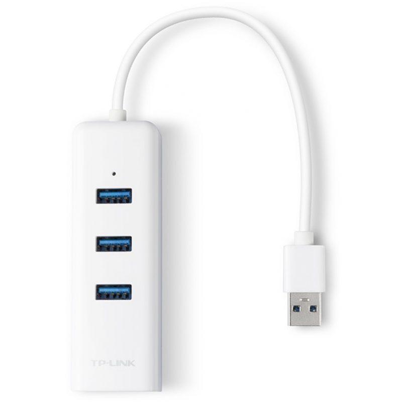 Adaptador de Red TP-Link UE330 USB 3.0 a Ethernet Gigabit + HUB USB 3.0 2