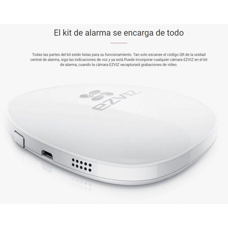 Kit de Alarma Inalambrica EZVIZ BS-113A con Sensor y Central 3
