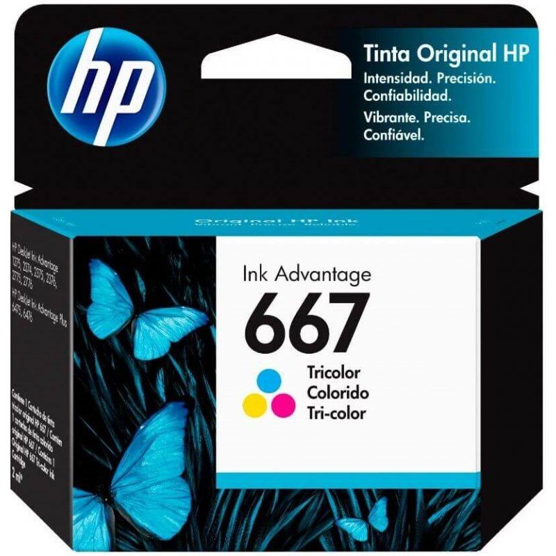 Cartucho Original HP 667 3YM78AL Color Para Deskjet 2375 2775 2776 1