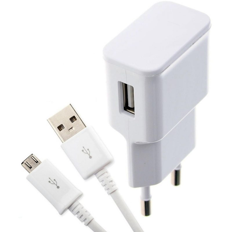 Adaptador Cargador de Pared USB 1.0A + Cable micro USB Para Celulares y Más 1