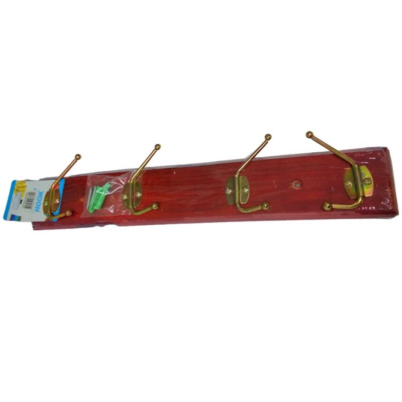 Perchero de Madera para colgar en Pared con 4 ganchos de hierro 1