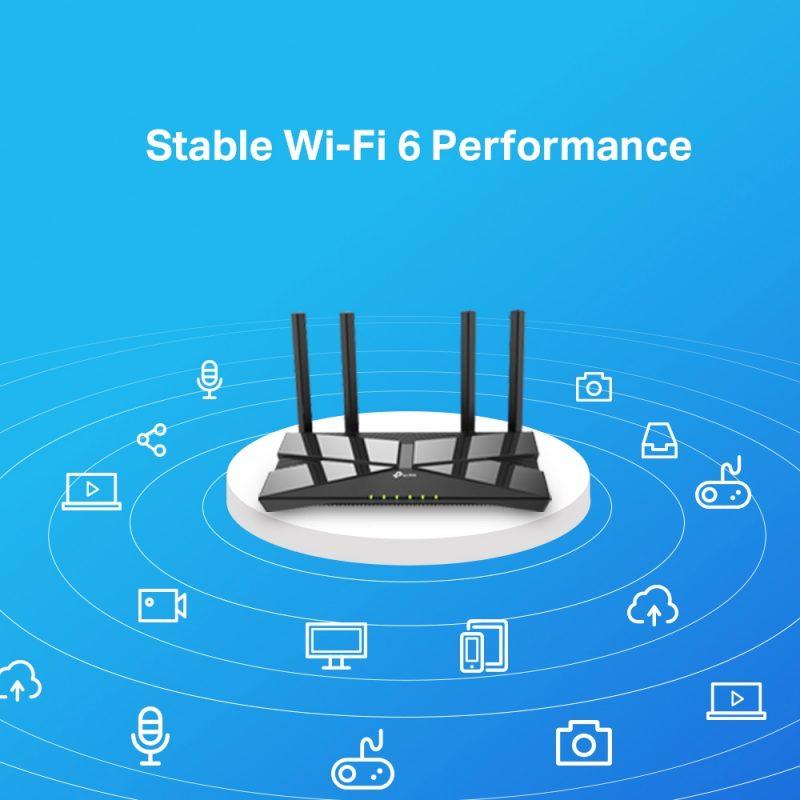 Router TP-Link WiFi 6 AX10 Gigabit Triple Nucleo Nueva Version WiFi 6 4