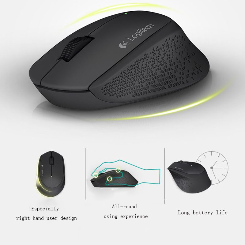 Mouse Inalambrico Logitech M280 USB Negro Bateria Larga Duracion 4