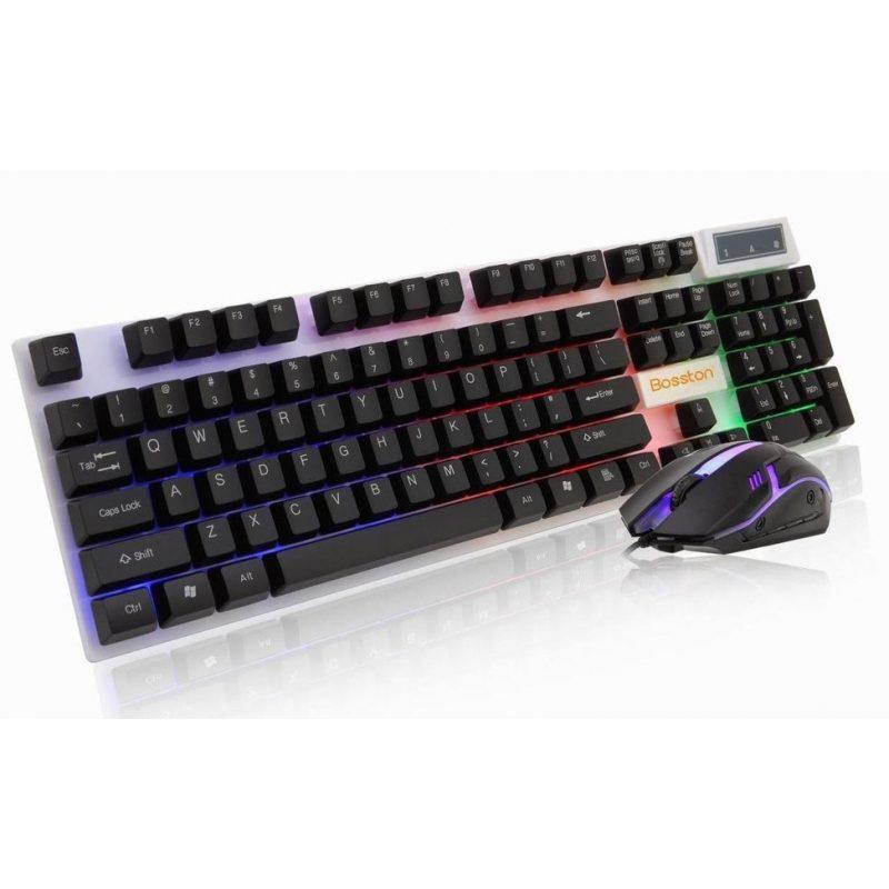 Combo Teclado y Mouse Gamer Bosston 8310 Retroiluminado 1