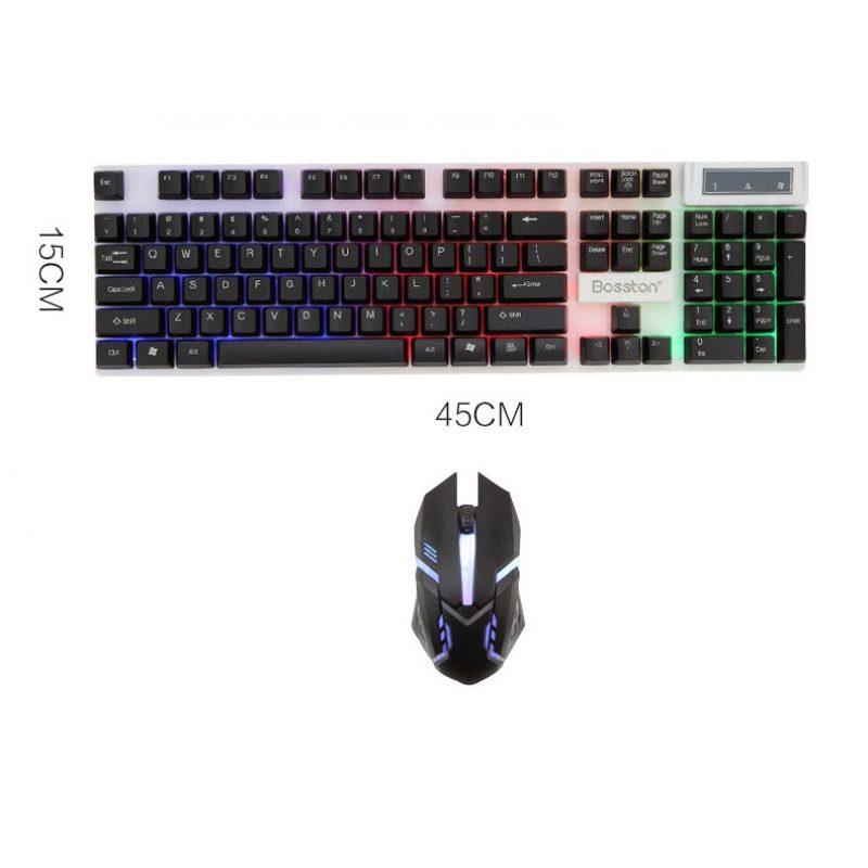 Combo Teclado y Mouse Gamer Bosston 8310 Retroiluminado 3