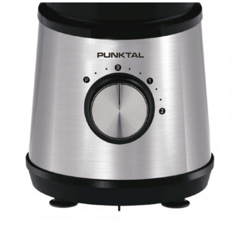 Licuadora Punktal PK-455 LIC 800W Vaso de vidrio 1.5 LTS. Acero Inoxidable 2
