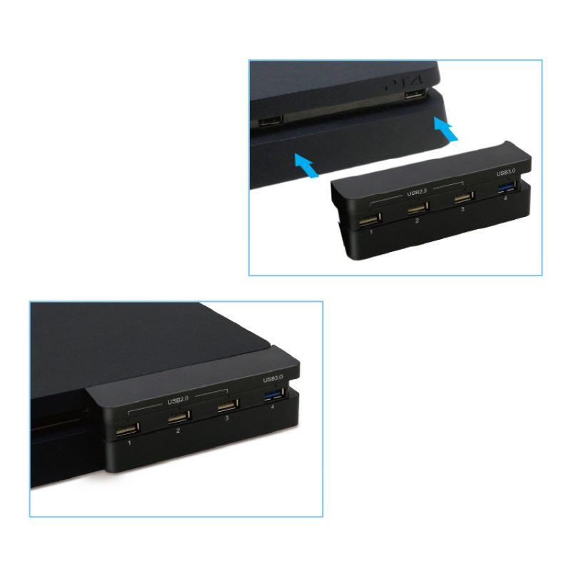 Hub de 4 Puertos USB Dobe TP4-821 para Consola PS4 Slim 3