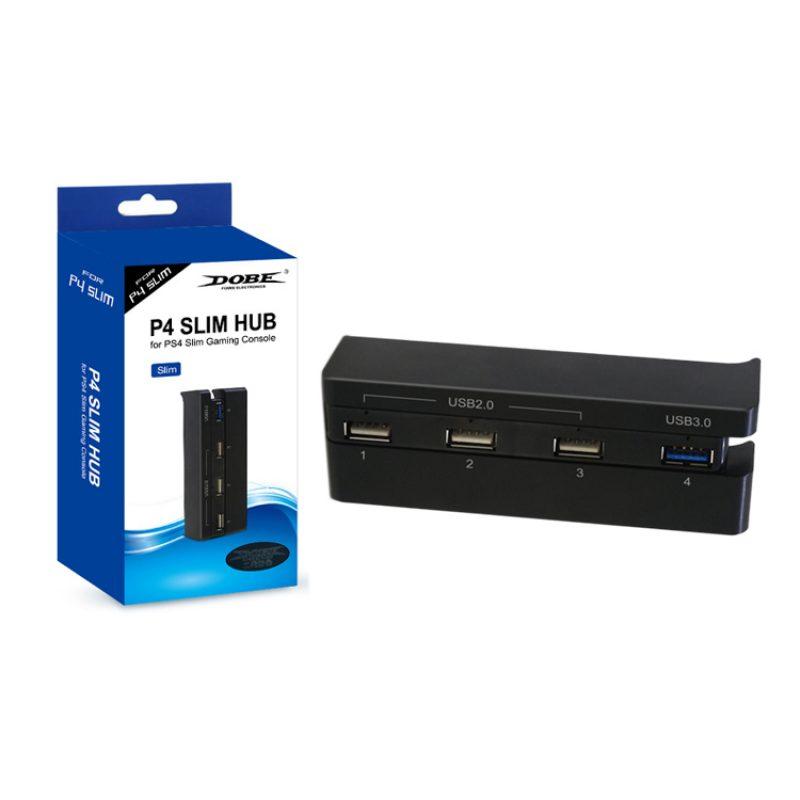 Hub de 4 Puertos USB Dobe TP4-821 para Consola PS4 Slim 4