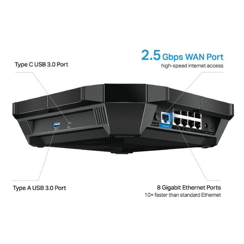 Router TP-Link Archer AX6000 MU-MIMO OFDMA WiFi 6 Procesador Quad-Core Doble Banda 8 Antenas 4