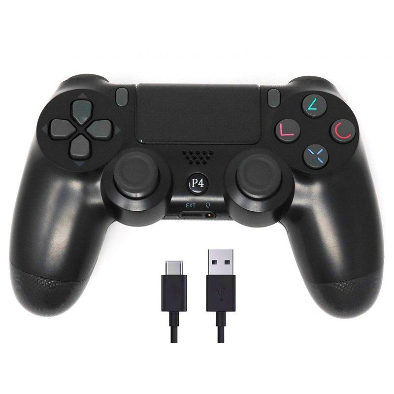 Joystick Inalambrico Bluetooth compatible para PlayStation 4 PS4 Double Shock - Negro 3