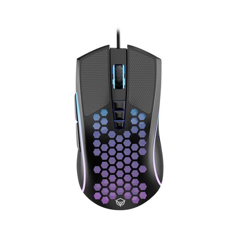 Combo Teclado Mouse Adaptador Mousepad Gamer MeeTion CO015 Retroiluminado RGB para Consolas 3