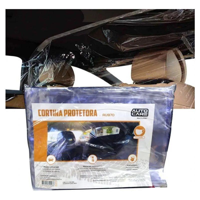 Cortina Mampara Sanitaria Protectora para Autos de PVC Transparente Habitaculo 1