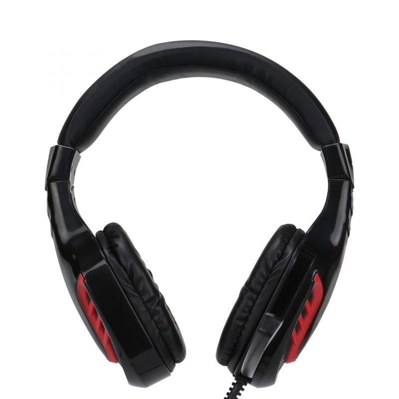 Auricular Headset Gamer Xtrike Me HP-310 con Microfono y Control de volumen integrado Negro/Rojo 3