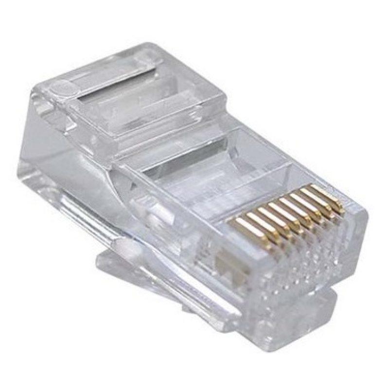 Fichas Conector rj45 Cat6 Para Cables de Red - Bolsa x10 Unidades 2